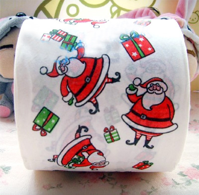 Christmas Toilet Paper santa