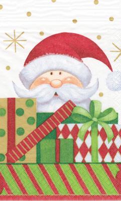 Christmas paper towels santa