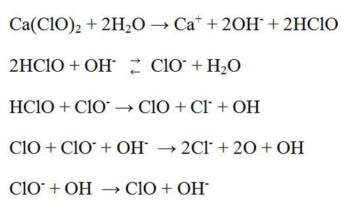 hypochlorite bleaching reactions